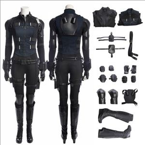Authentic Black Widow Costume Cosplay